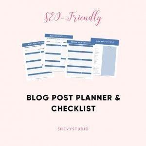 Blog Post Planner Checklist